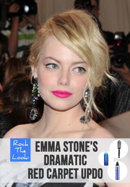 An 8 Step Tutorial Emma Stones Stunning Red Carpet Updo Jet Rhys