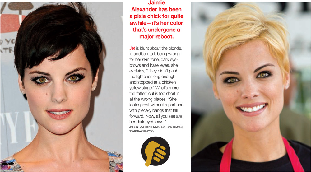 Short Hair Celebrity Makeovers This Minute Jet Rhys