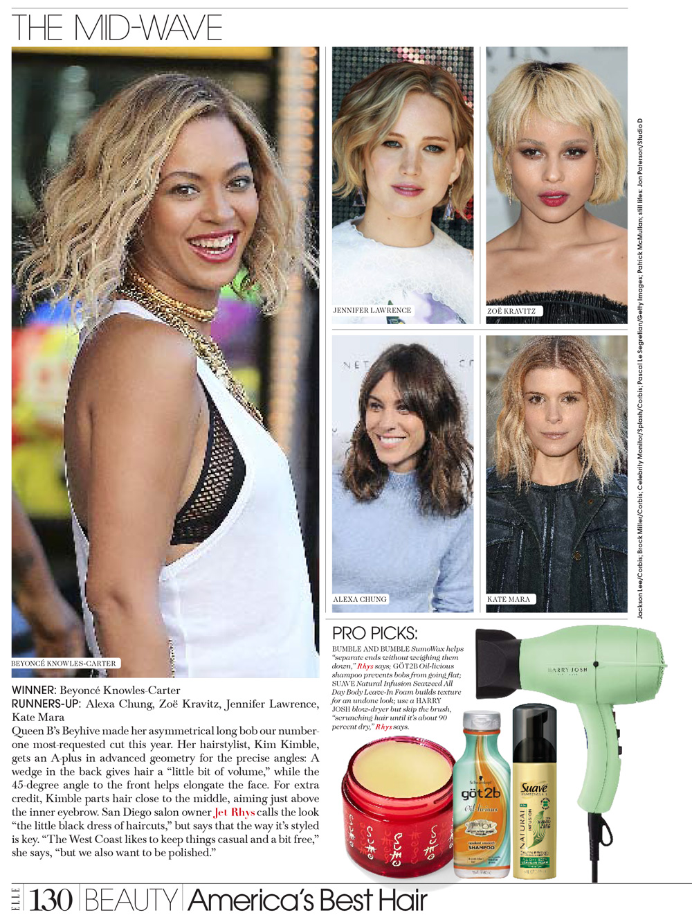 Zoe Kravitz Jennifer Lawrence Friends: America's Best Hair – Top 100 Salons – Jet Rhys